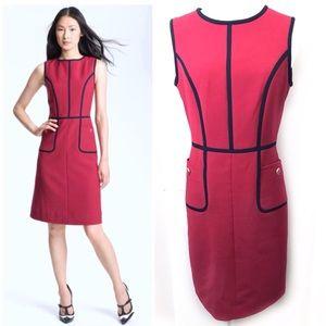 Tory Burch 8 Flora Red Sheath Dress Bodycon